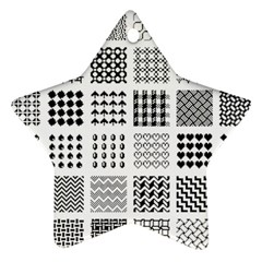 Retro Patterns Star Ornament (Two Sides)