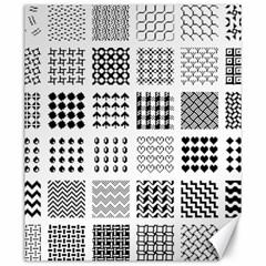 Retro Patterns Canvas 20  x 24