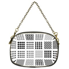 Retro Patterns Chain Purses (one Side)