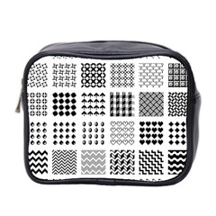 Retro Patterns Mini Toiletries Bag 2 Side