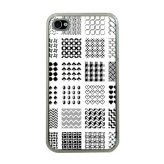 Retro Patterns Apple Iphone 4 Case (clear)