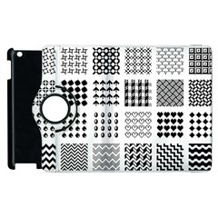 Retro Patterns Apple iPad 3/4 Flip 360 Case