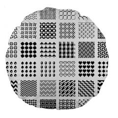Retro Patterns Large 18  Premium Round Cushions