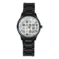 Retro Patterns Stainless Steel Round Watch
