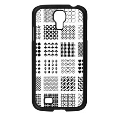 Retro Patterns Samsung Galaxy S4 I9500/ I9505 Case (black)