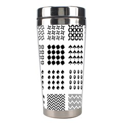 Retro Patterns Stainless Steel Travel Tumblers