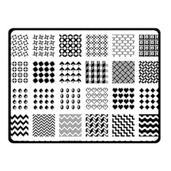 Retro Patterns Double Sided Fleece Blanket (small)