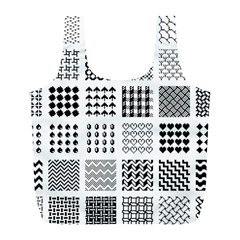 Retro Patterns Full Print Recycle Bags (l)