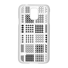 Retro Patterns Samsung Galaxy S5 Case (white)