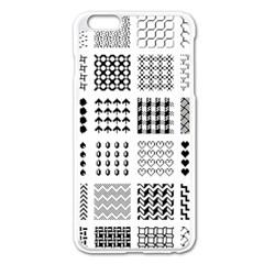 Retro Patterns Apple Iphone 6 Plus/6s Plus Enamel White Case