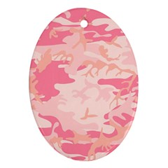 Pink Camo Print Ornament (oval)
