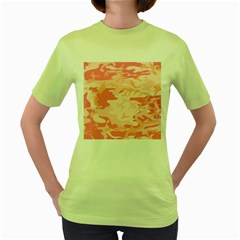 Pink Camo Print Women s Green T Shirt