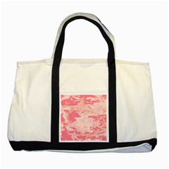 Pink Camo Print Two Tone Tote Bag