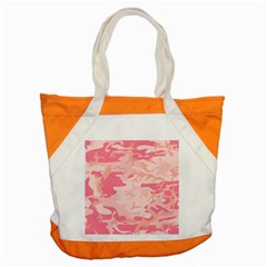Pink Camo Print Accent Tote Bag