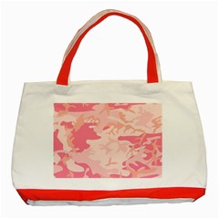 Pink Camo Print Classic Tote Bag (red)