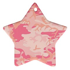Pink Camo Print Star Ornament (two Sides)