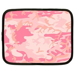 Pink Camo Print Netbook Case (large)