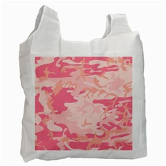 Pink Camo Print Recycle Bag (Two Side)