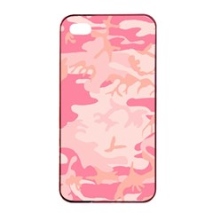 Pink Camo Print Apple iPhone 4/4s Seamless Case (Black)