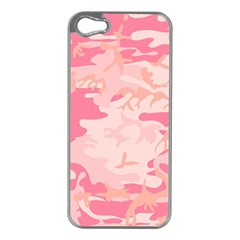 Pink Camo Print Apple iPhone 5 Case (Silver)