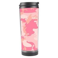 Pink Camo Print Travel Tumbler