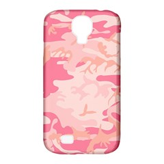 Pink Camo Print Samsung Galaxy S4 Classic Hardshell Case (pc+silicone)