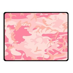 Pink Camo Print Double Sided Fleece Blanket (small)