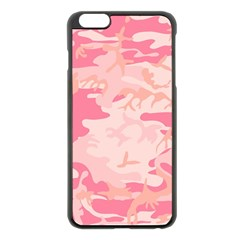 Pink Camo Print Apple Iphone 6 Plus/6s Plus Black Enamel Case