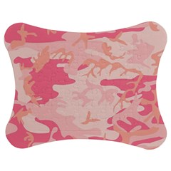 Pink Camo Print Jigsaw Puzzle Photo Stand (bow)