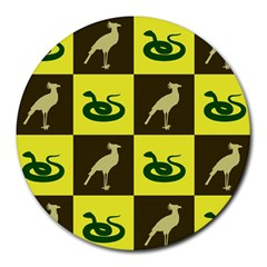 Bird And Snake Pattern Round Mousepads