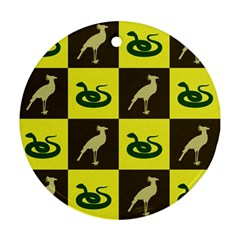 Bird And Snake Pattern Ornament (round)