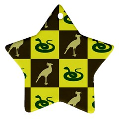 Bird And Snake Pattern Ornament (Star)