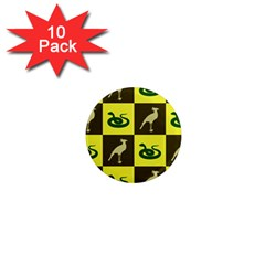Bird And Snake Pattern 1  Mini Magnet (10 pack)