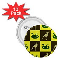 Bird And Snake Pattern 1 75  Buttons (10 Pack)