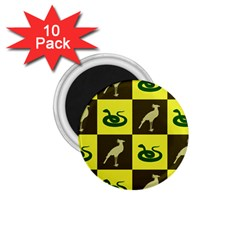 Bird And Snake Pattern 1 75  Magnets (10 Pack)