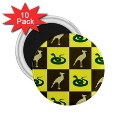 Bird And Snake Pattern 2.25  Magnets (10 pack)