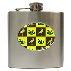 Bird And Snake Pattern Hip Flask (6 Oz)
