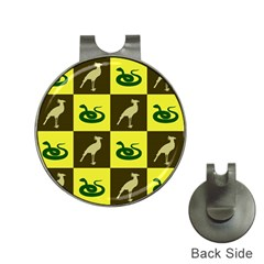 Bird And Snake Pattern Hat Clips With Golf Markers