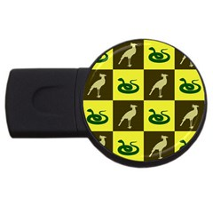 Bird And Snake Pattern Usb Flash Drive Round (4 Gb)