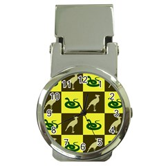 Bird And Snake Pattern Money Clip Watches