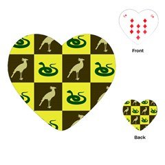 Bird And Snake Pattern Playing Cards (heart)