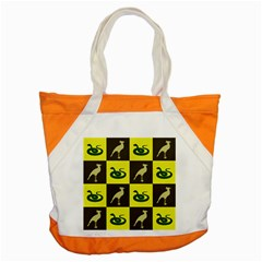 Bird And Snake Pattern Accent Tote Bag