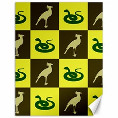 Bird And Snake Pattern Canvas 12  X 16