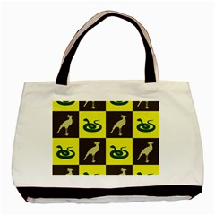 Bird And Snake Pattern Basic Tote Bag (two Sides)