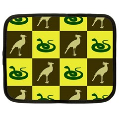 Bird And Snake Pattern Netbook Case (Large)