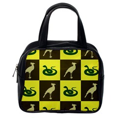 Bird And Snake Pattern Classic Handbags (one Side)