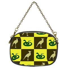 Bird And Snake Pattern Chain Purses (two Sides)