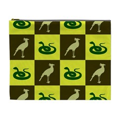 Bird And Snake Pattern Cosmetic Bag (xl)