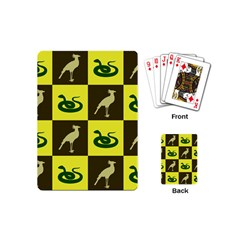 Bird And Snake Pattern Playing Cards (Mini)