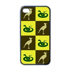 Bird And Snake Pattern Apple iPhone 4 Case (Black)